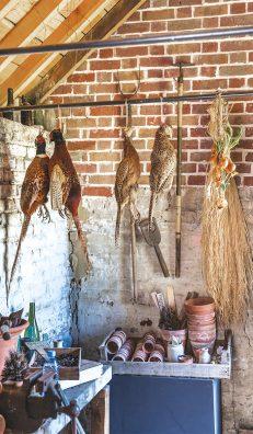Royal Kitchens. La cabane du jardin des cuisines royales dans laquelle a été reconstitué le garde-manger des cuisines.