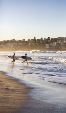 Bondi Beach, Sydney. La plus célèbre des plages australiennes.