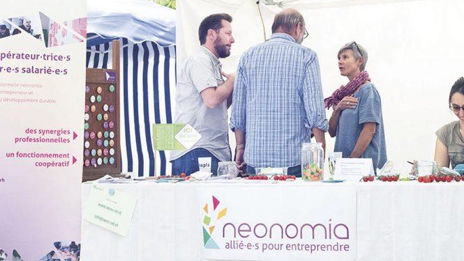 Voilà 3 ans que neonomia partage son modèle innovant lors du Festival Alternatiba à Genève. © Nirine Arnold