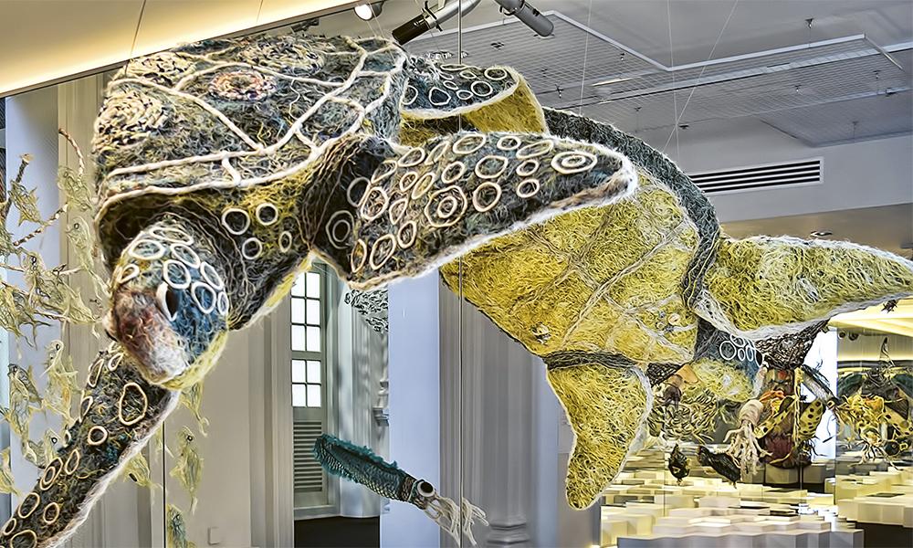 Singapour. Une tortue immortalisée par les artistes australiens. © Choo Yut Shing