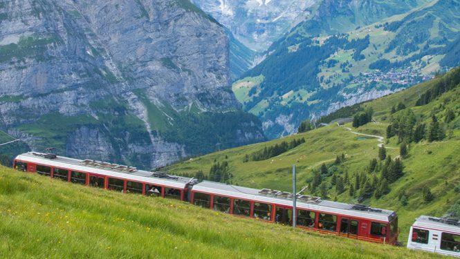 Un train en Suisse