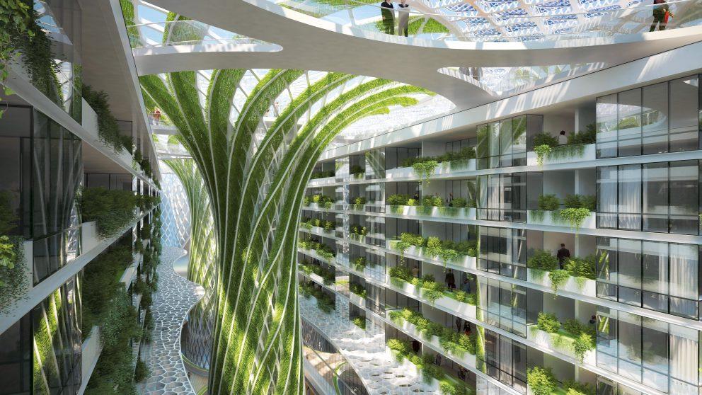 En 2050, Le Caire comptera 40 millions d'habitants. Pour éviter que la situation ne tourne au chaos, les nouveaux urbains seront logés dans des immeubles où ils disposeront naturellement – et à coût réduit – d'eau, de nature et de fraîcheur.