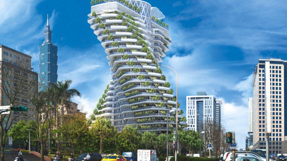 L'Asie est pionnière en matière d'architecture fertile. Confrontés à des problèmes environnementaux dramatiques, les pays d'Asie espèrent échapper à la catastrophe en appliquant les principes d'une architecture non prédatrice. L'Agora Garden, de Vincent Callebaut, est la première réalisation d'architecture verte à Taïwan.