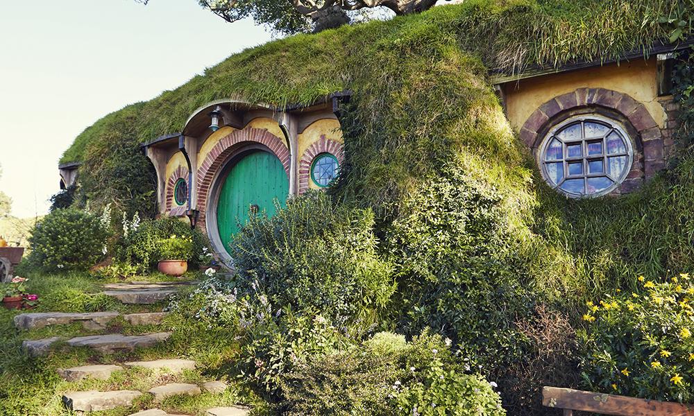 Matamata. Le village des Hobbits où furent tournées certaines scènes du « Seigneur des Anneaux ».