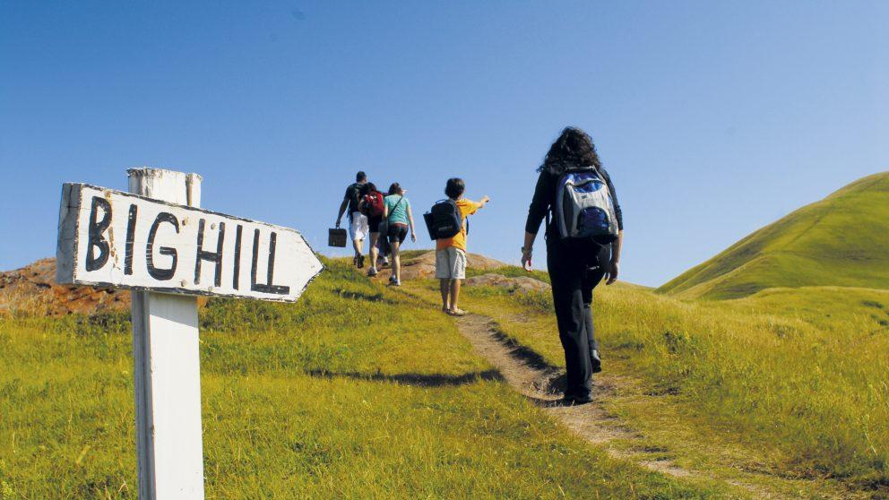 La Big Hill, sommet dominant l'île d'Entrée, îles de la Madeleine