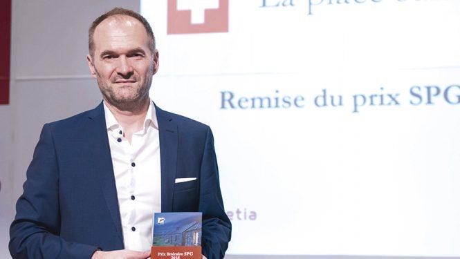 Éric Bulliard. Le lauréat du Prix littéraire SPG 2018.