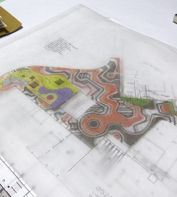 Un projet de l'agence Burle Marx, vingt ans après son décès. L'entreprise crée les jardins d'immeubles de beaux quartiers, de places publiques ou, comme ici, de centres commerciaux.