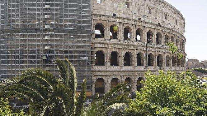 Les travaux de rénovation du Colisée. Selon le programme, la façade sera achevée cette année.