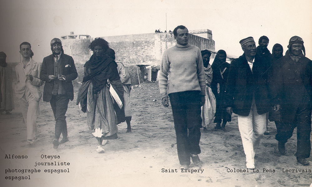 Sud du Maroc. Antoine de Saint-Exupéry à Cap Juby, Tarfaya.