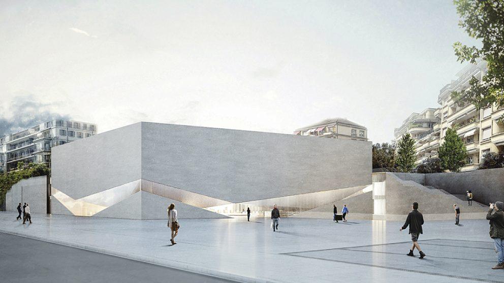 Le futur Pôle muséal. Partie dédiée au mudac, musée d'art et design.