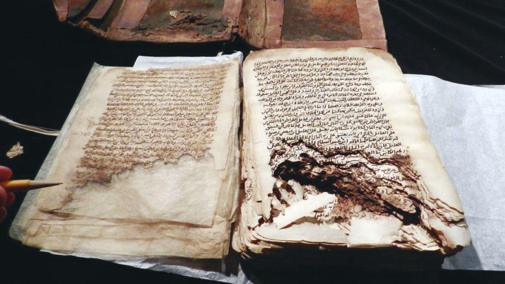 Reconstitution. Tablette provenant de l'ancienne cité fortifiée d'Hatra reconstituée virtuellement grâce au projet Mossoul lancé par deux chercheurs européens, Matthew Vincent et Chance Coughenour.