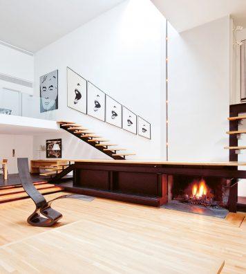 À l'intérieur du 101, la générosité de l'espace donne à la maison une sensation luxueuse.