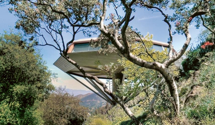 La Chemosphere, la villa-ovni réalisée par John Lautner en 1960 à Los Angeles et aujourd'hui propriété de l'éditeur allemand Benedikt Taschen.
