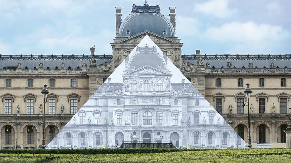 En 2019, le musée du Louvre invitait JR à intervenir sur sa pyramide.