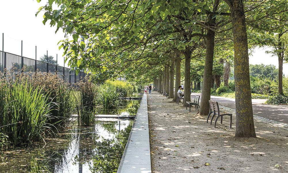 Le parc de Gerland, au sud de la ville.