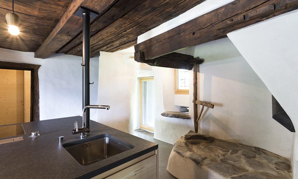 La Belwalder-Gitsch à Grengiols (VS). Située au cœur du parc naturel régional du Binntal, cette construction date de 1592.