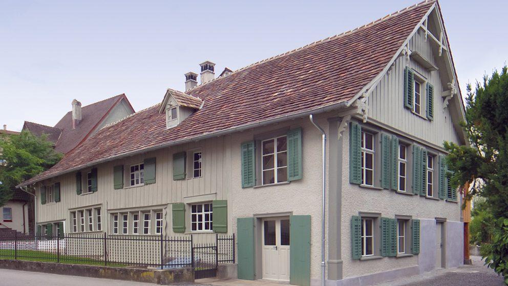 Fischerhäuser de Romanshorn (TG). Comme leur nom l'indique, ces résidences étaient à l'origine des maisons de pêcheurs.