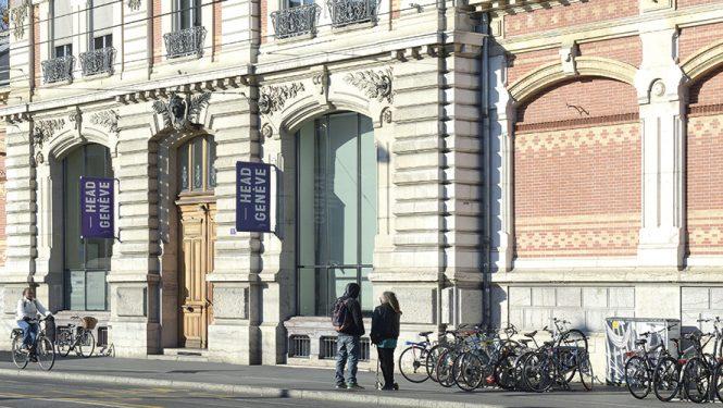 Bâtiment James-Fazy de la HEAD – Genève. Il s'agit du bâtiment principal de l'école qui en compte cinq au total.