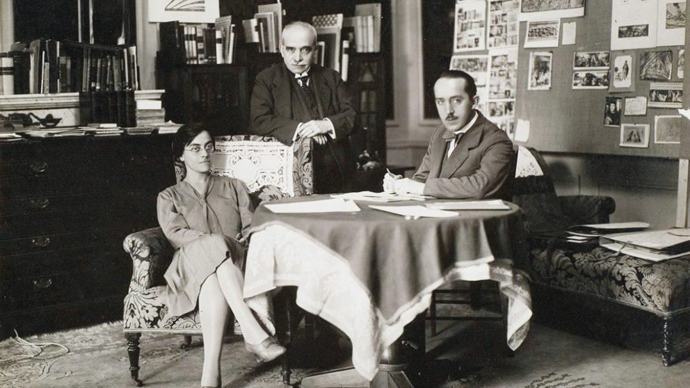 Aby Warburg. Aby Warburg à Rome en 1929.