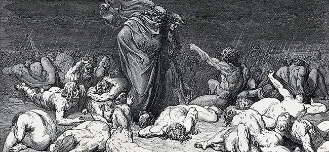 #135 – Dossier – Dante et Virgile aux prises avec les damnés de « L'Enfer ».