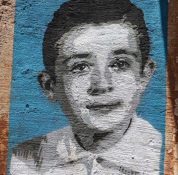 Un portrait de Peppino Impastato
